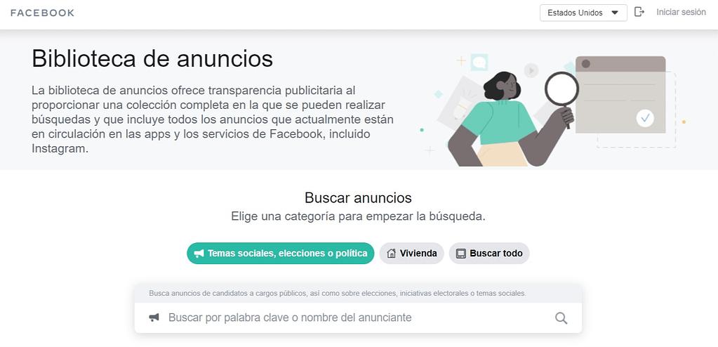 Biblioteca de Anuncios de Facebook